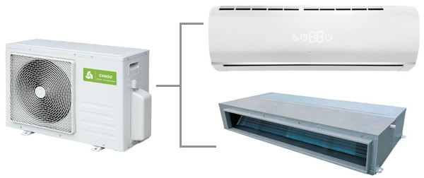 Наружный блок мультисплит-системы Chigo C2OU-14HDR4-A на 2 комнаты купить  по цене 23 550 грн | Мультисплит-системы Chigo